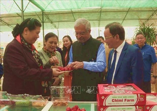 越南国会和联合国考察团赴山罗省考察消除贫困和减贫工作 hinh anh 2