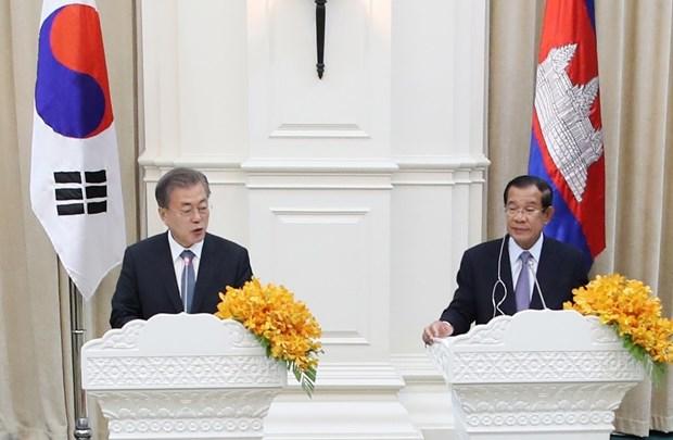 韩国承诺与柬埔寨扩大合作 hinh anh 1
