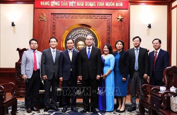 胡志明市市委书记会见韩国三星集团执行总裁 hinh anh 2