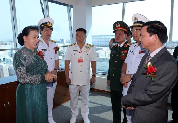 国会主席阮氏金银出席西贡新港总公司成立30周年纪念典礼 hinh anh 1