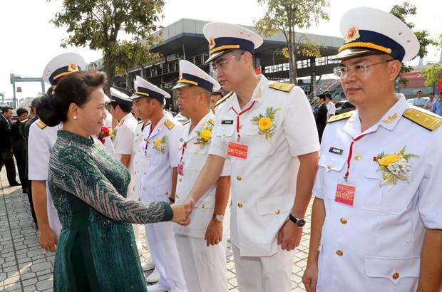 国会主席阮氏金银出席西贡新港总公司成立30周年纪念典礼 hinh anh 2