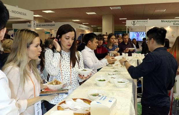 越南在莫斯科国际旅游展上推介越南特色美食 hinh anh 2