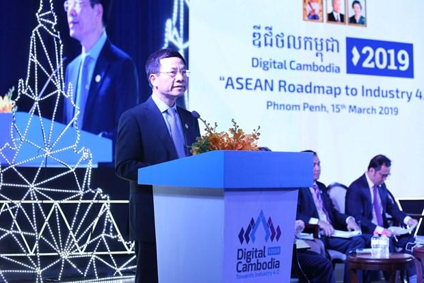 越南与柬埔寨签署邮政、电信领域的合作协议 hinh anh 1