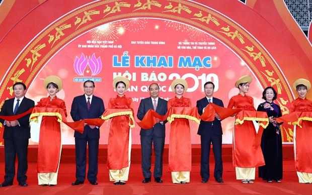 政府总理阮春福:报刊展使越南新闻传播活动更加丰富 hinh anh 1