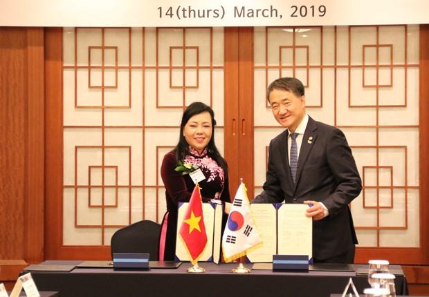 越南与韩国加强医疗卫生领域合作 hinh anh 1