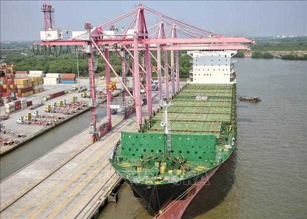 4万吨集装箱船抵达胡志明市港口 hinh anh 1