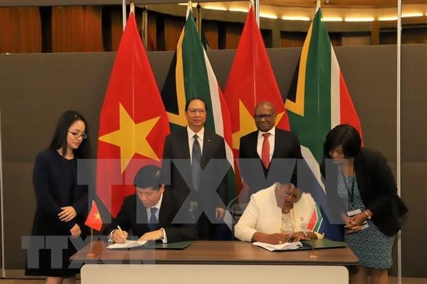 越南与南非加强友好与全面合作关系 hinh anh 1