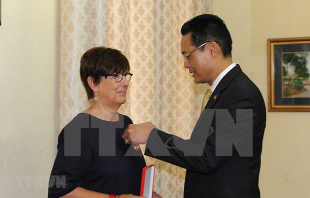 比利时前任驻越南大使荣获越南友谊勋章 hinh anh 1