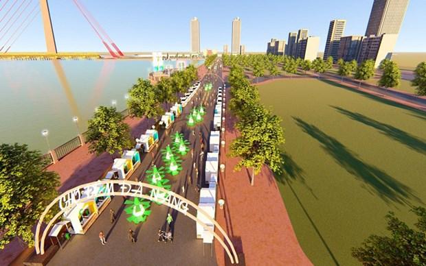 岘港市白藤夜市和步行街预计将于6月投运 hinh anh 2