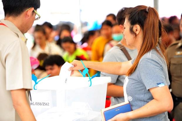 泰国大选:75%选民参加提前投票 hinh anh 1