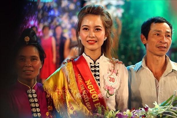 2019年奠边省羊蹄甲花小姐冠军出炉 傣族佳丽摘得桂冠 hinh anh 1