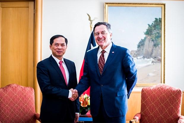 越南外交部副部长裴青山对智利进行访问 hinh anh 1