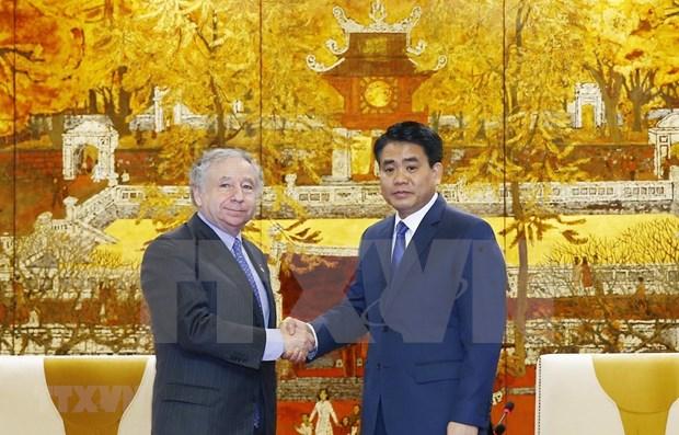 国际汽车联合会主席:河内承办FI锦标赛有助于提高越南地位 hinh anh 1