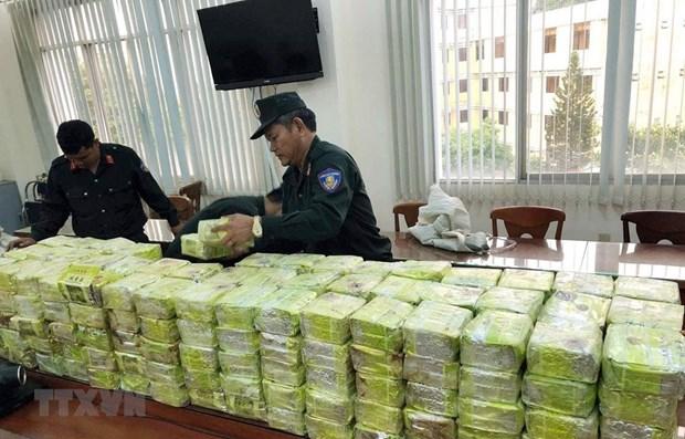 越南破获一起特大贩毒案缴获毒品300公斤 hinh anh 1