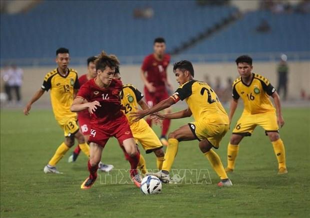 2020年亚洲U23足球赛资格赛:越南队首战告捷 6-0大胜文莱队 hinh anh 1