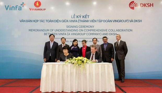 Vingroup与瑞士市场拓展服务集团签署发展战略合作协议 hinh anh 1