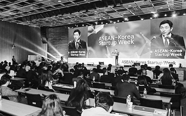 韩国承诺推动与东盟的经济关系 hinh anh 1