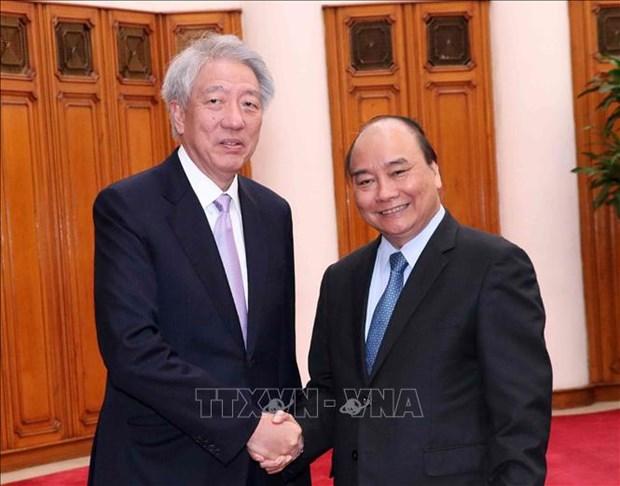 政府总理阮春福会见新加坡副总理张志贤 hinh anh 1