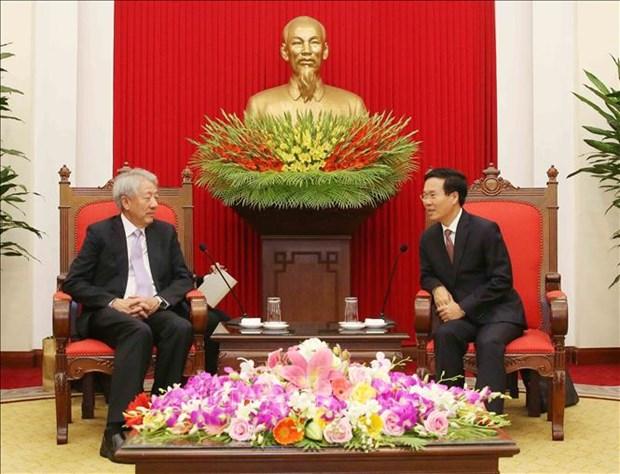 政府总理阮春福会见新加坡副总理张志贤 hinh anh 3