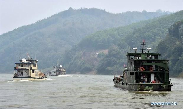 第80次中老缅泰湄公河联合巡逻执法行动结束 hinh anh 1