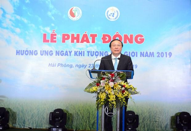 越南响应2019年世界气象日活动正式启动 hinh anh 1