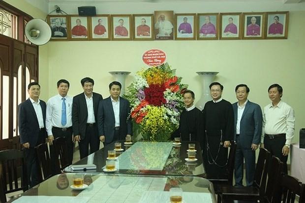 河内市领导对郑玉轩连任赎世主会领导表示祝贺 hinh anh 1