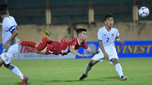 2019年越南国际U19足球赛开赛 越南队2-1反超缅甸队 hinh anh 2
