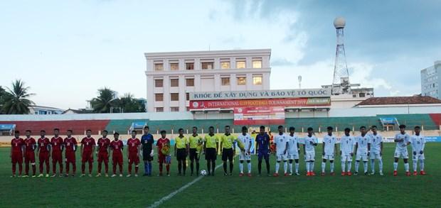 2019年越南国际U19足球赛开赛 越南队2-1反超缅甸队 hinh anh 1