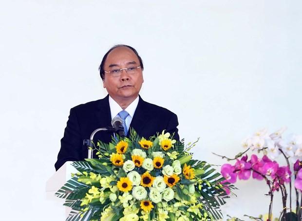 阮春福出席广南省各重要工程动工仪式 hinh anh 1