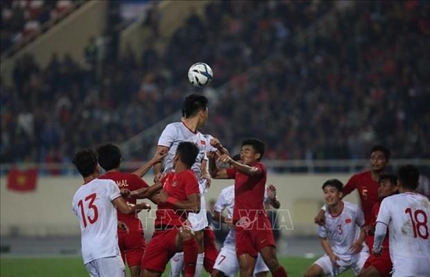 2020年亚洲U23足球赛资格赛:越南队补时1比0绝杀印度尼西亚队 hinh anh 1