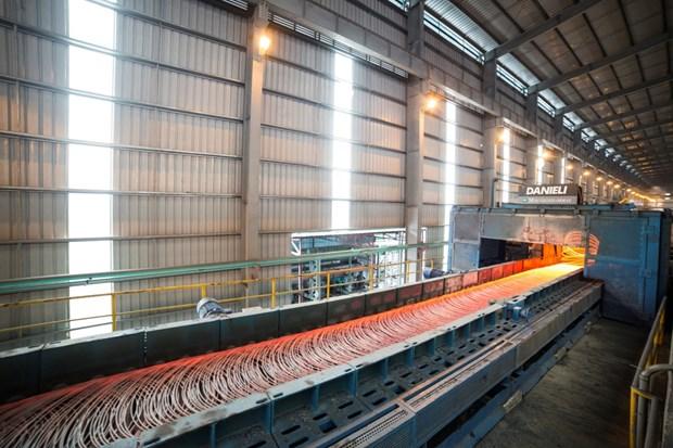 越南和发预应力钢棒新产品正式问世 hinh anh 1