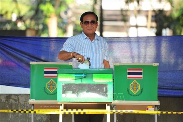泰国大选:现任总理巴育的党得票暂时领先 hinh anh 1