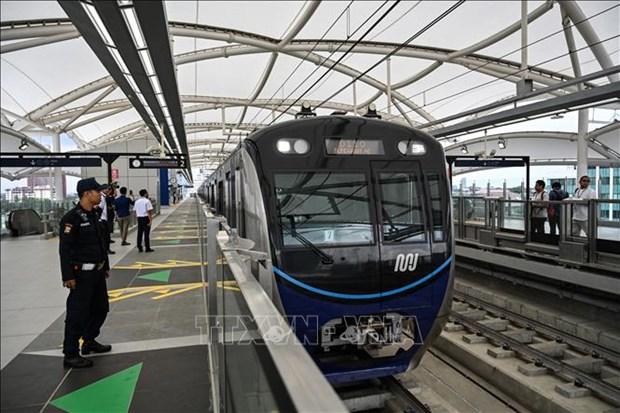 印尼首条地铁在雅加达开通 hinh anh 1