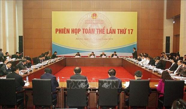 国会法律委员会第17次会议:对2019年法律和法令建设计划进行调整 hinh anh 1