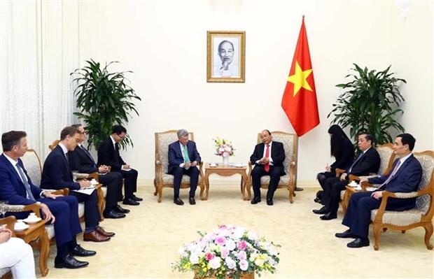 越南政府总理阮春福会见美国Visa集团首席执行官阿尔弗雷德·凯利 hinh anh 2