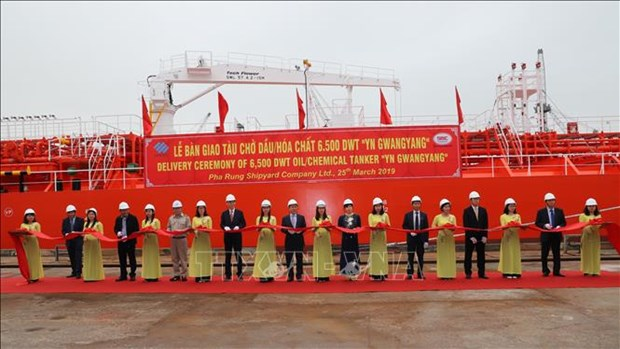 越南向韩国移交6500吨级化学品成品油轮 hinh anh 1