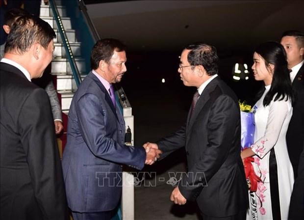 文莱达鲁萨兰国苏丹哈吉·哈桑纳尔·博尔基亚开始对越南进行国事访问 hinh anh 1