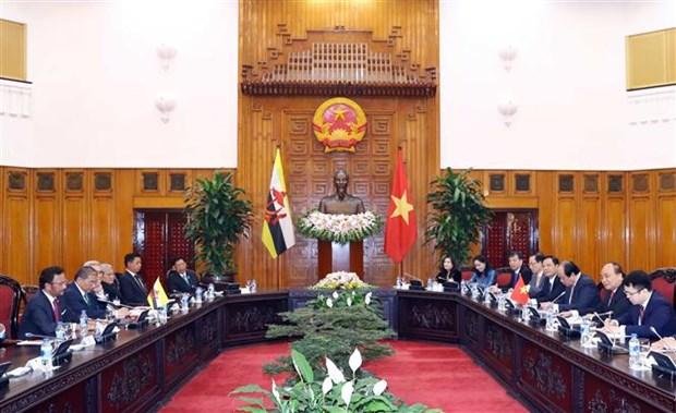 越南政府总理阮春福会见文莱苏丹 hinh anh 2