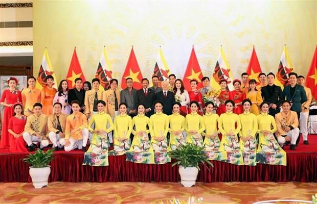 """越共中央总书记阮富仲:越南与文莱关系在""""质""""与""""量""""上均的重要进展 hinh anh 2"""