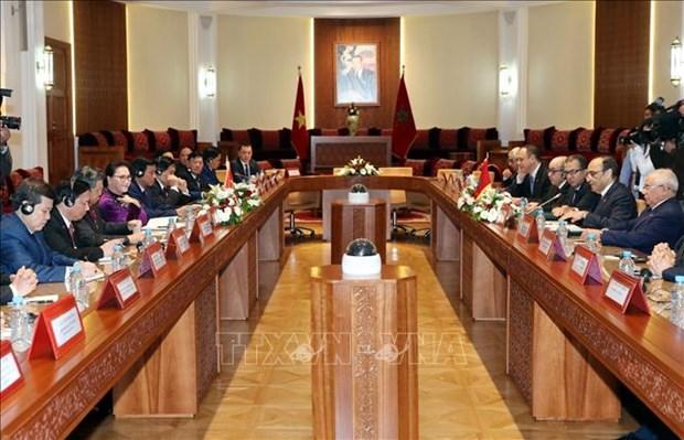 摩洛哥众议院议长与越南国会主席举行会谈 hinh anh 1