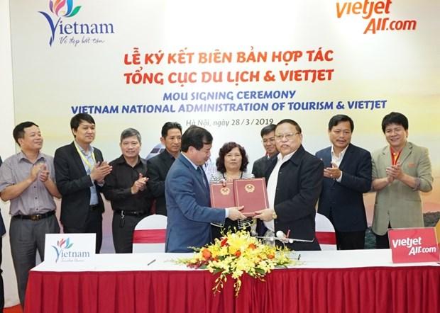 越捷航空公司与旅游总局签署关于旅游的合作备忘录 hinh anh 2
