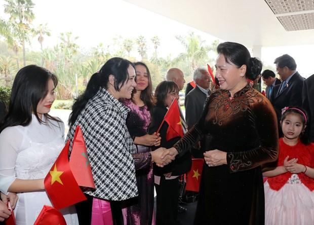 越南国会主席阮氏金银开始对摩洛哥王国进行正式访问 hinh anh 2