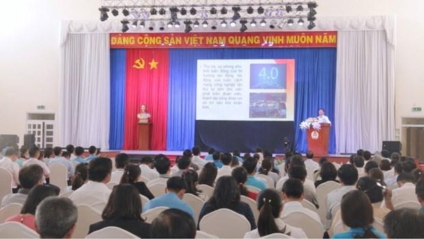 平阳省召开专题会议讨论CPTPP和第四次工业革命对工人和工会带来的影响 hinh anh 1