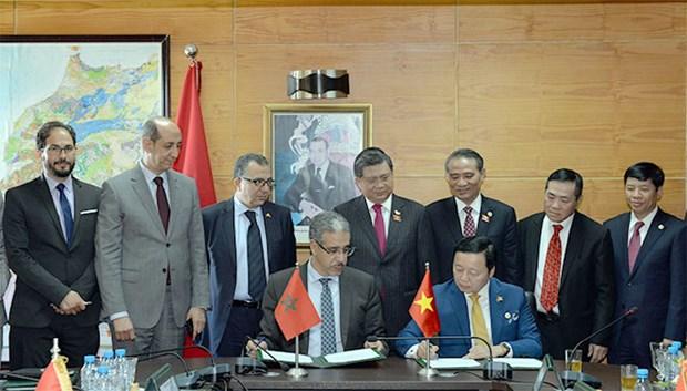 越南与摩洛哥签署多项合作文件 hinh anh 1