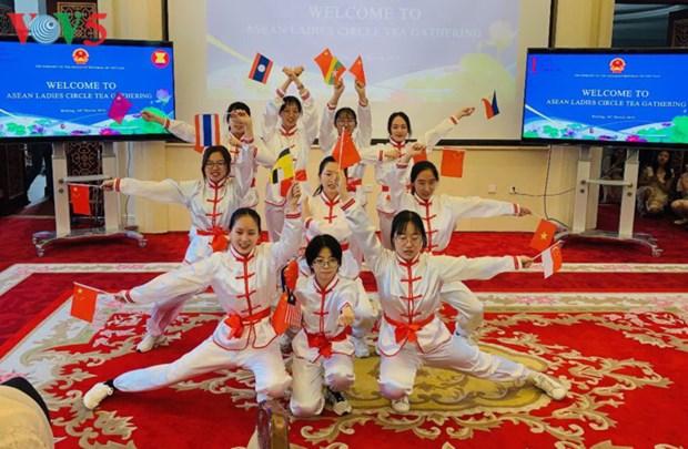 越南驻中国大使馆举行东盟各国妇女交流会 hinh anh 1