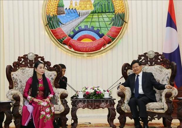 老挝总理高度评价越南永福省与老挝各省的合作成果 hinh anh 1
