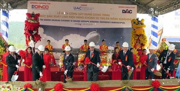 越南首家航空航天零部件制造厂正式破土动工 hinh anh 1