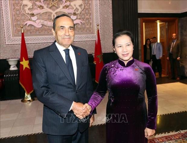 国会主席阮氏金银圆满结束对摩洛哥王国进行的正式访问 hinh anh 1