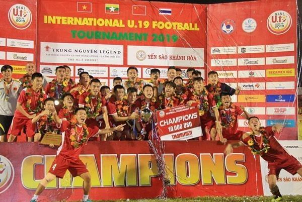 2019年越南国际U19足球赛:越南队1:0击败泰国队摘取桂冠 hinh anh 1