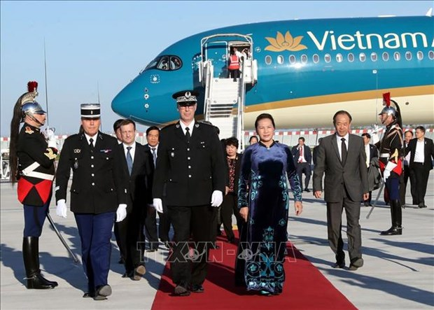 越南国会主席阮氏金银开始对法国进行正式访问 hinh anh 1